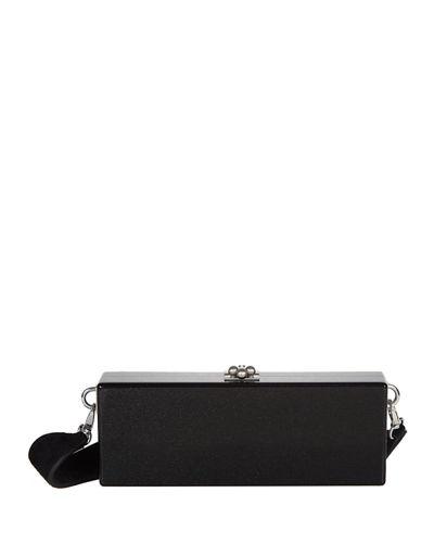Edie Parker Flavia Box Clutch Bag In Black Pattern