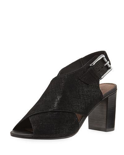 Donald J Pliner Indo Crisscross Chunky-Heel Sandal, Black