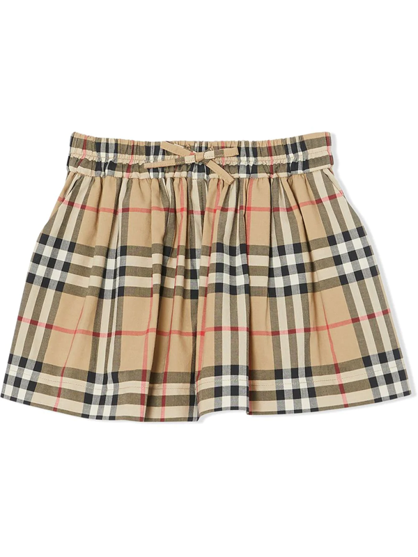 Burberry Kids' Baby's & Little Girl's Pleated Plaid Mini Skirt In Brown