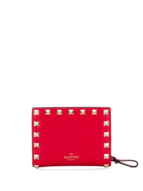 Valentino Garavani Red Rockstud Wallet