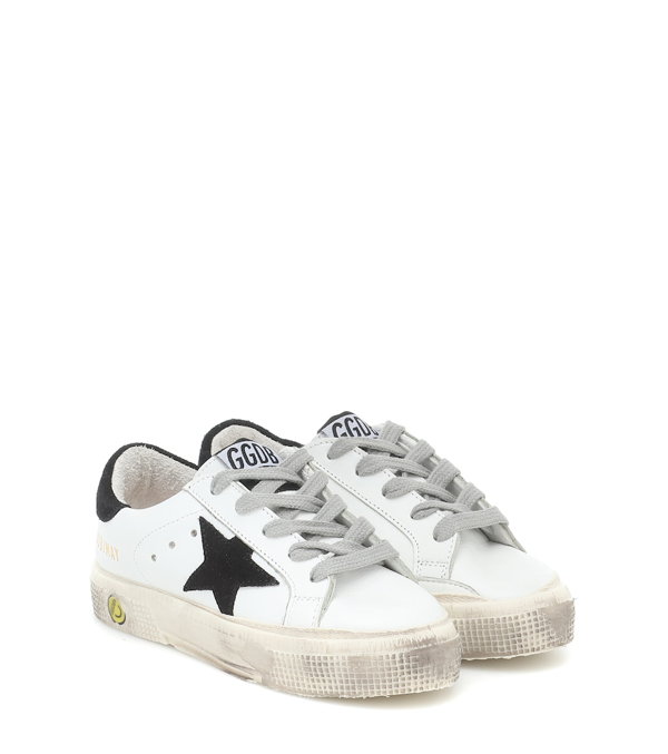 Golden Goose Kids' Superstar Lace-up Sneakers In White