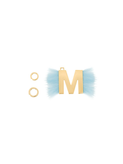 Fendi Abclick Letter M Mink Charm For Handbag, Multi