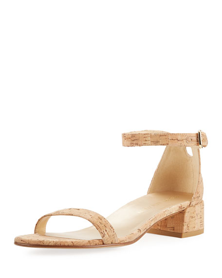 Stuart Weitzman Nudistjune 40Mm City Sandal, Natural Cork