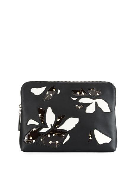 3.1 Phillip Lim 31 Minute Leather Cosmetic Zip Case In Black