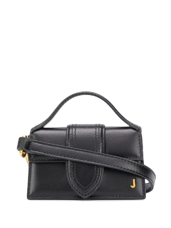 Jacquemus Le Bambino Petit Leather Tote In Black