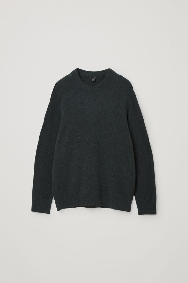 Cos Boiled Wool Jumper In Green