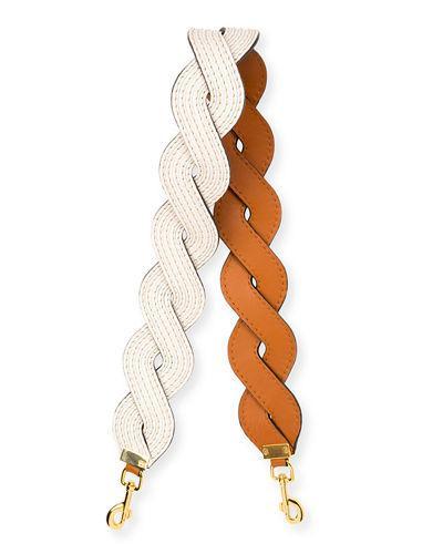 Loewe Wavy Stitches Strap For Handbag In Soft White