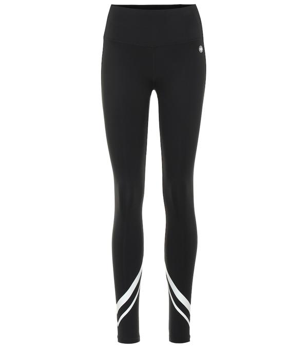 Tory Sport High-rise Weightless Chevron Leggings In Sport Black