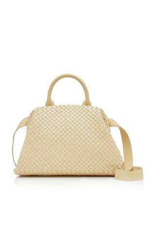 Bottega Veneta Padded Intrecciato Leather Doctor Bag In Nude