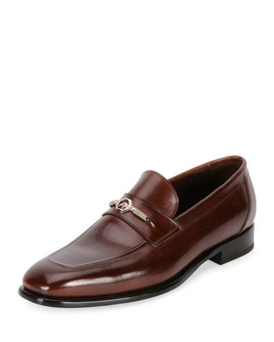 Stefano Ricci Calf Leather Classic Loafer, Brown