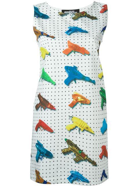 Jeremy Scott Watergun Print Fitted Dress