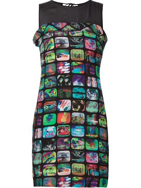 Jeremy Scott Tv 스크린 프린트 드레스