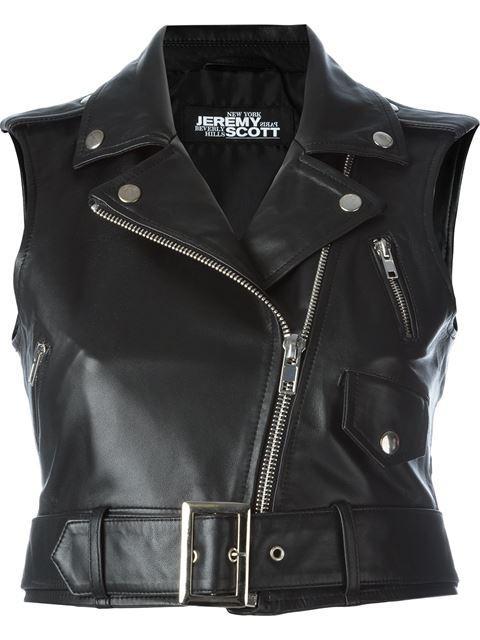 Jeremy Scott Sleeveless Biker Jacket