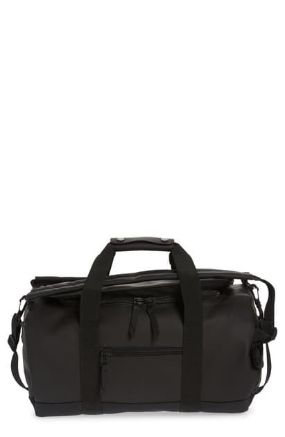 Rains Small Waterproof Convertible Duffle Bag In Black