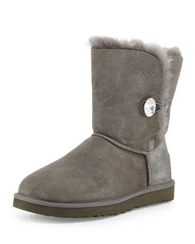 Ugg Bailey Bling Button Boot In Grey
