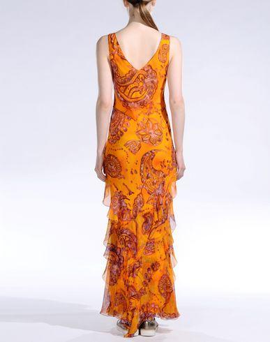 John Galliano Long Dress In Orange