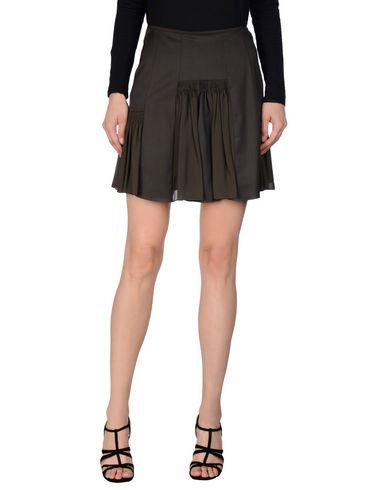 John Galliano Knee Length Skirts In Dark Green