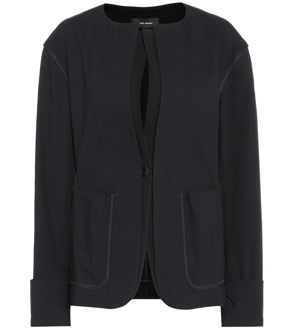 Isabel Marant Honey Cotton-Blend Jacket In Black