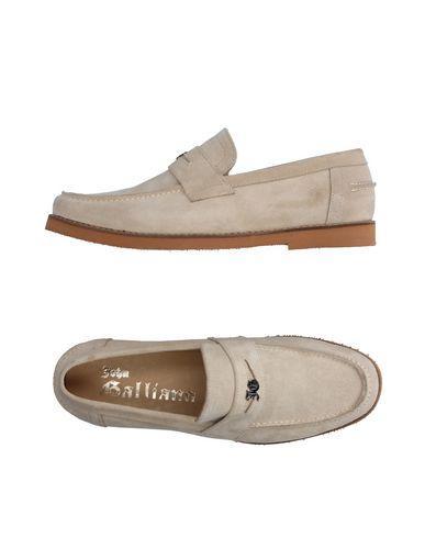 John Galliano Loafers In Light Grey