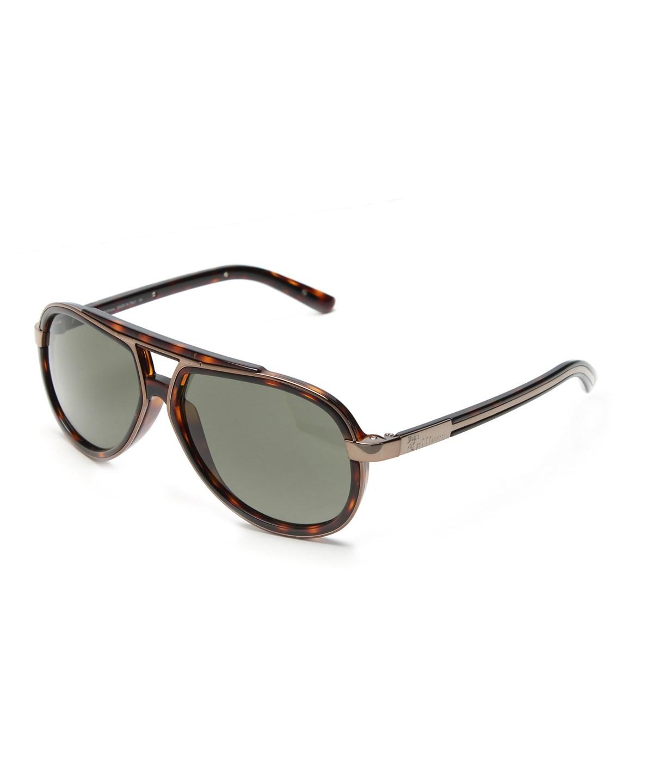 John Galliano Women's Pilot Style Sunglasses Tortoise In Brown