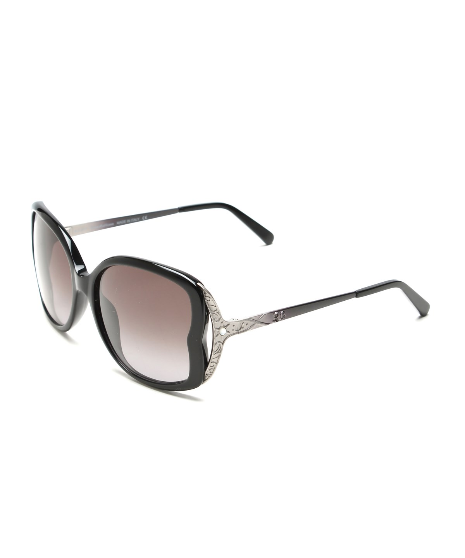John Galliano Women's Oversized Frame Sunglasses Black/Silver In Multiple Colors