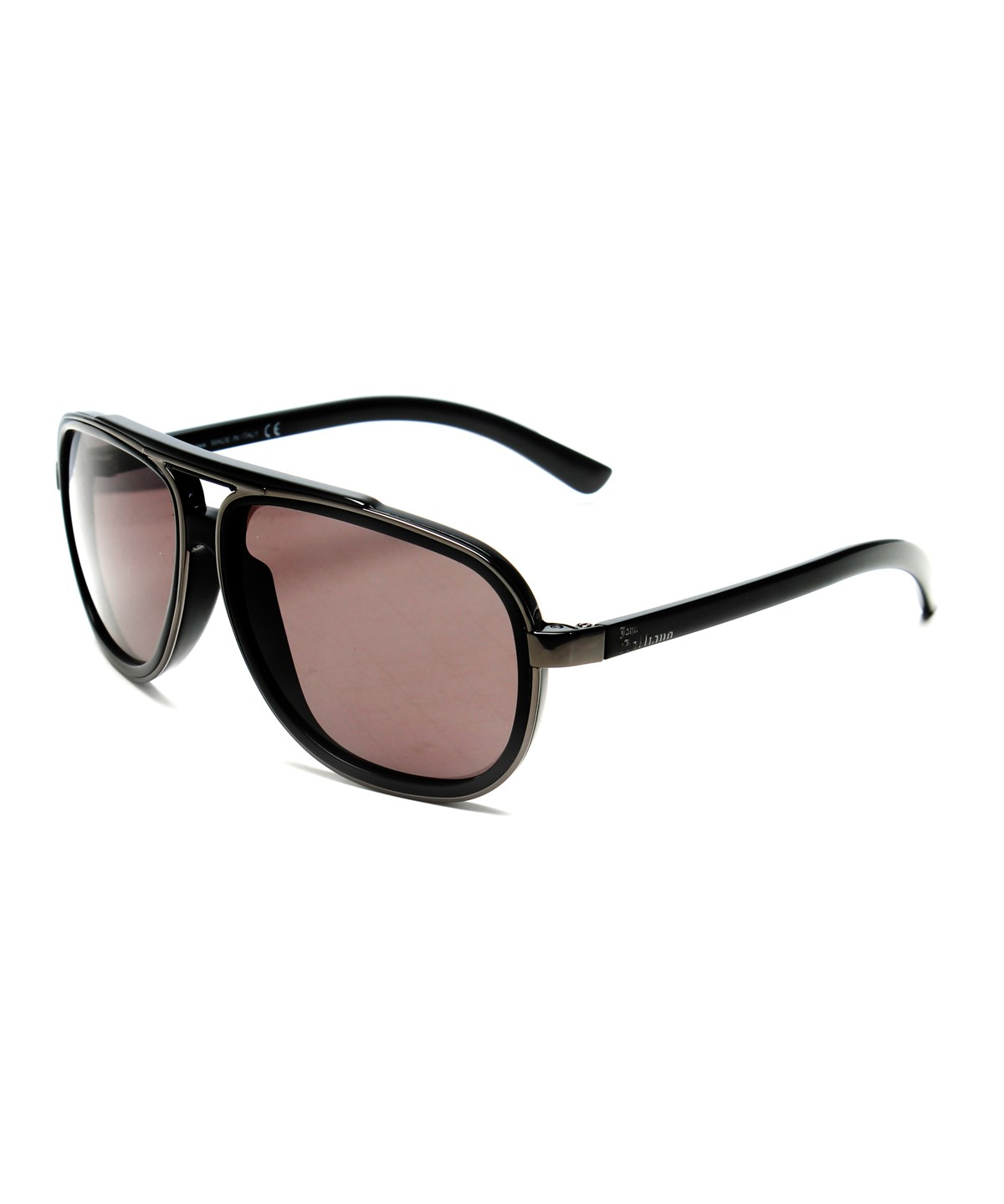 John Galliano Women's Large Frame Pilot Style Sunglasses Grey/Black In Multiple Colors