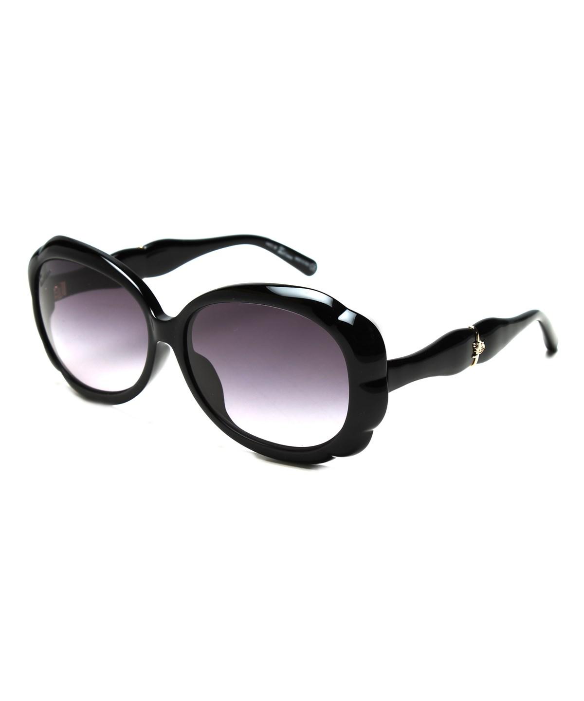 John Galliano Women's Oversized Flower Shaped Sunglasses Black