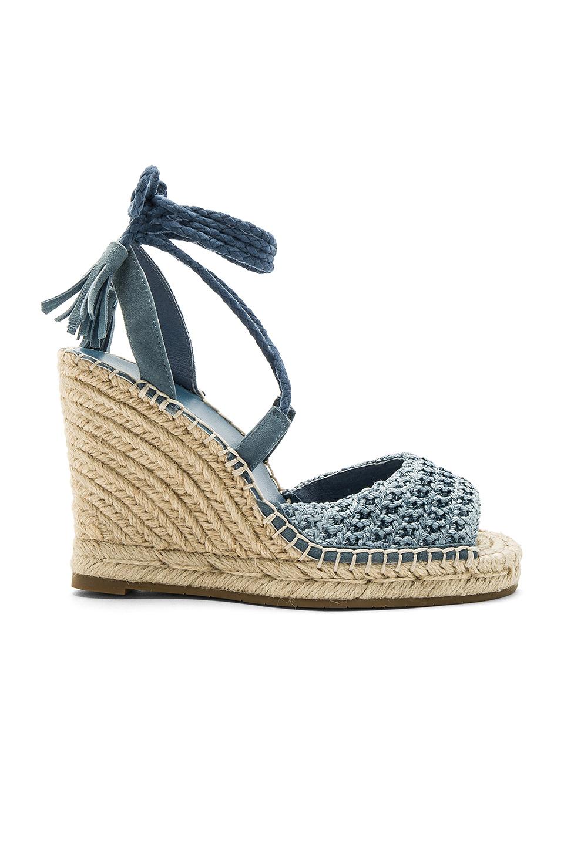 Joie Kacy Espadrille Wedge Sandal In Blue