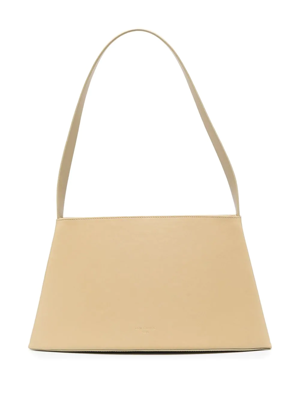 Low Classic Curve Cream Leather Shoulder Bag In Neutrals