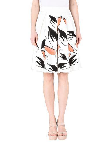 Leo Studio Design Knee Length Skirt In Ivory