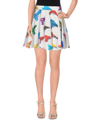 Jeremy Scott Squirt Gun Print Skirt In White