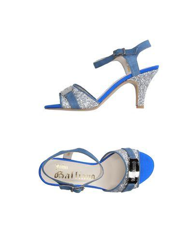 John Galliano Sandals In Pastel Blue