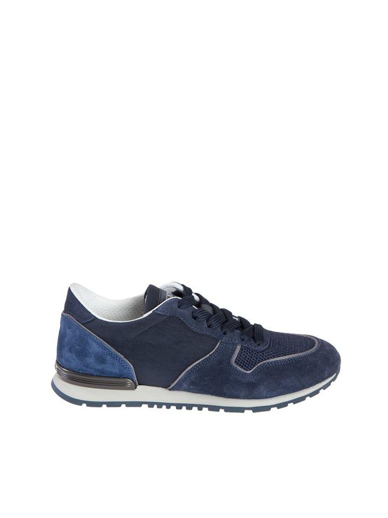 Tod's Men's  Blue Suede Sneakers