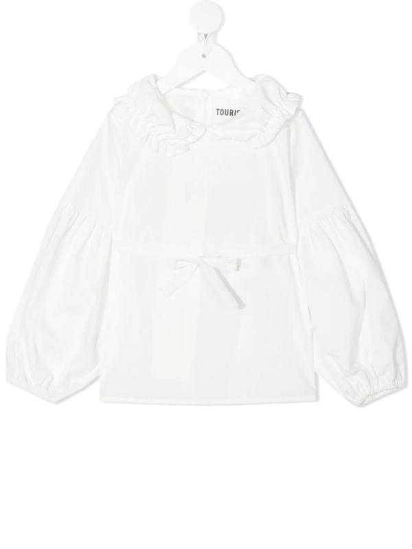 Touriste Kids' Bow-detail Blouse In White