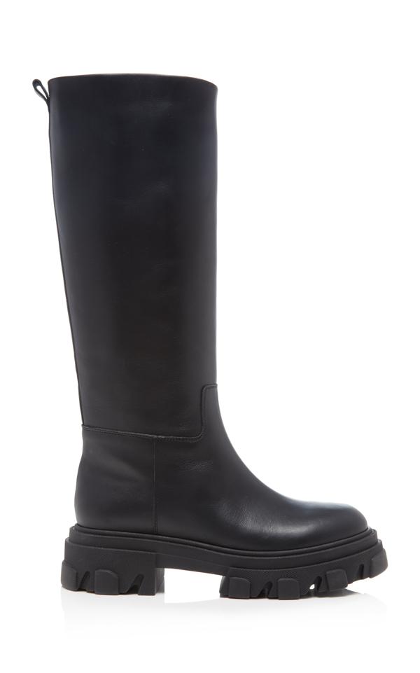 Gia X Pernille Teisbaek Tubular Knee-high Combat Boots In Black