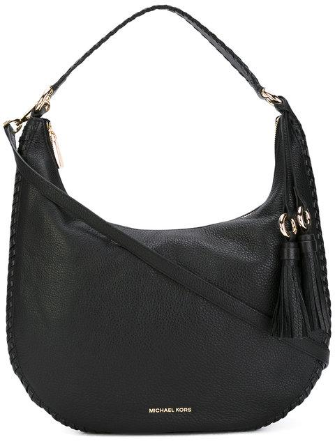 Michael Kors Lauryn Large Black Pebble Leather Shoulder Bag