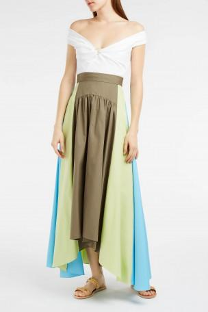 Peter Pilotto Panelled Cotton Maxi Skirt