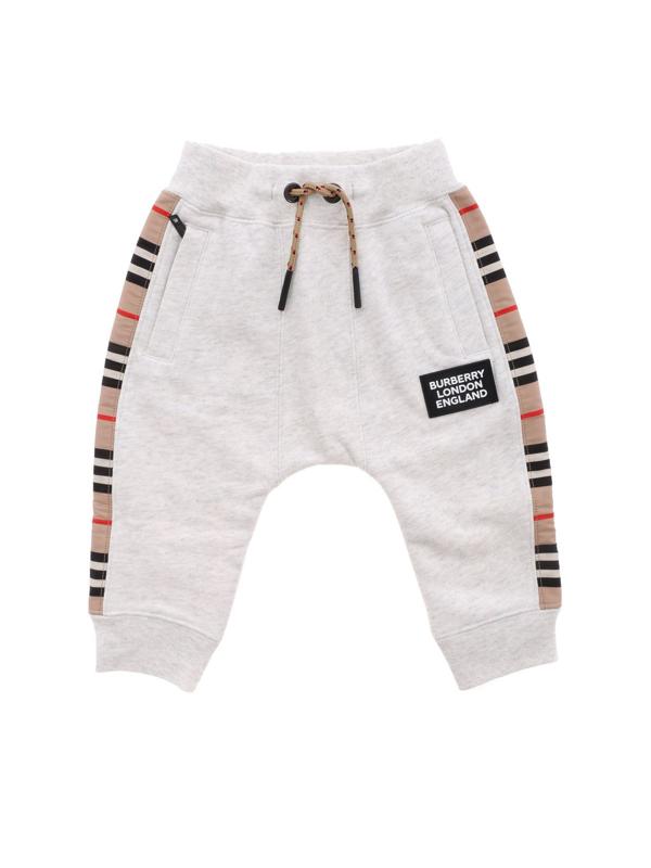 Burberry Boys' Hamilton Icon Stripe Joggers - Little Kid, Big Kid In Grey