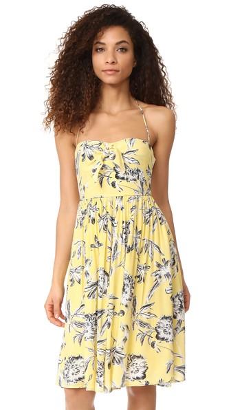 Bb Dakota Joss Lily Printed Dress In Yellow
