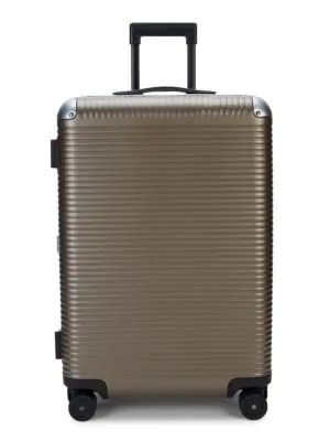 Fpm Bank Light Check-in Spinner Suitcase In Matte Almond