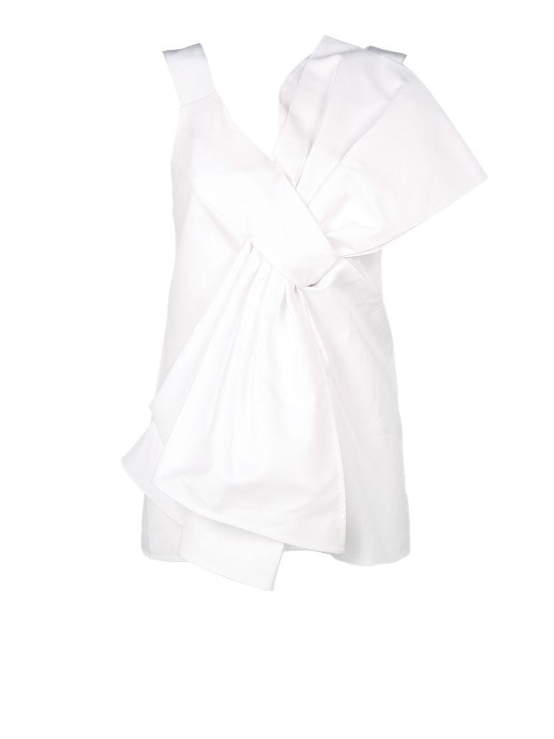 Victoria Victoria Beckham Over-Size Knot Top In White