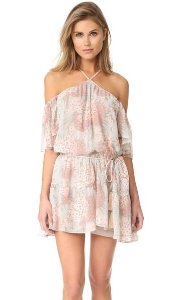 Loveshackfancy Amira Silk Dress In Mint