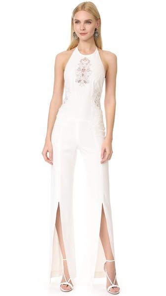 Jonathan Simkhai Multimedia Corded Jumpsuit In White