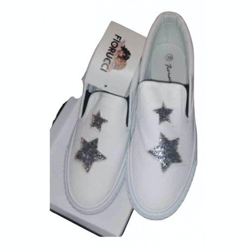 Pre-owned Fiorucci White Cloth Espadrilles