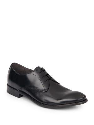 John Varvatos Hallowell Leather Oxfords In Black