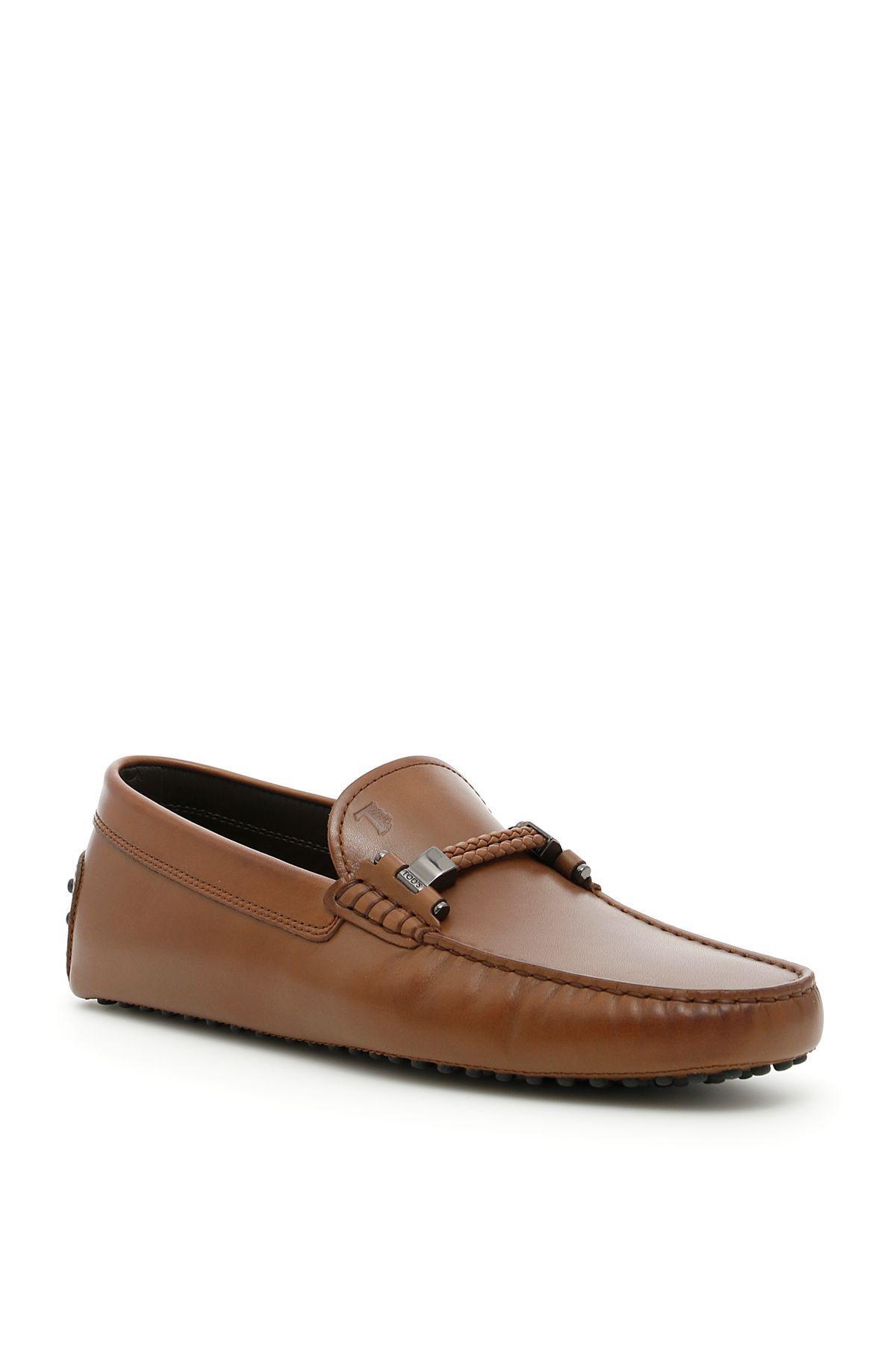 Tod's Scooby Loafers In Marronemarrone