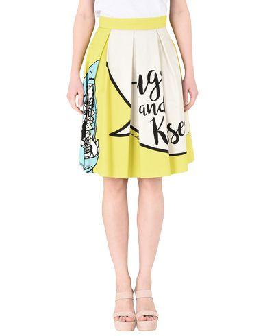 Leo Studio Design Knee Length Skirts In Yellow