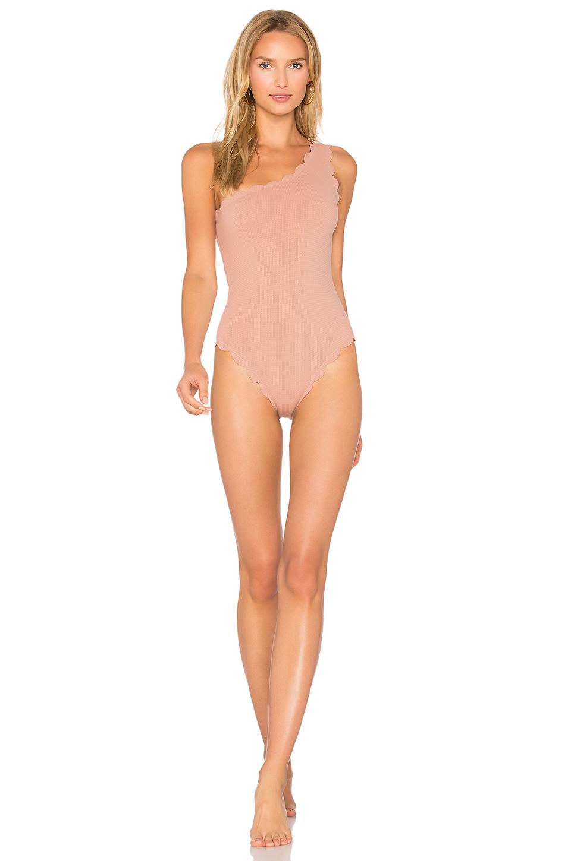 Marysia Santa Barbara Maillot Swimsuit In Pink & Indigo