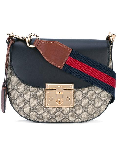 Gucci Padlock Gg Shoulder Bag In Brown