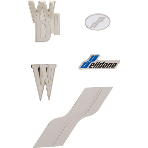 We11 Done We11done Silver Logo Pin Set In Mix